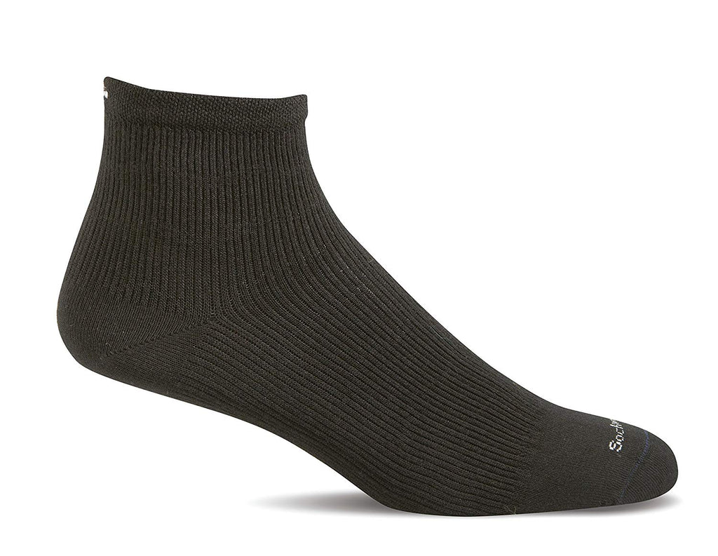 Sockwell Womens Plantar Fasciitis Firm Compression Socks - Black Solid - Medium/Large