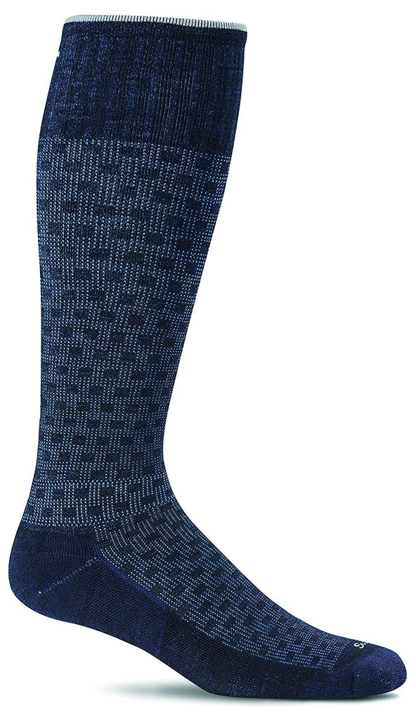 Sockwell Mens Shadow Box Socks - Navy - Large/X-Large