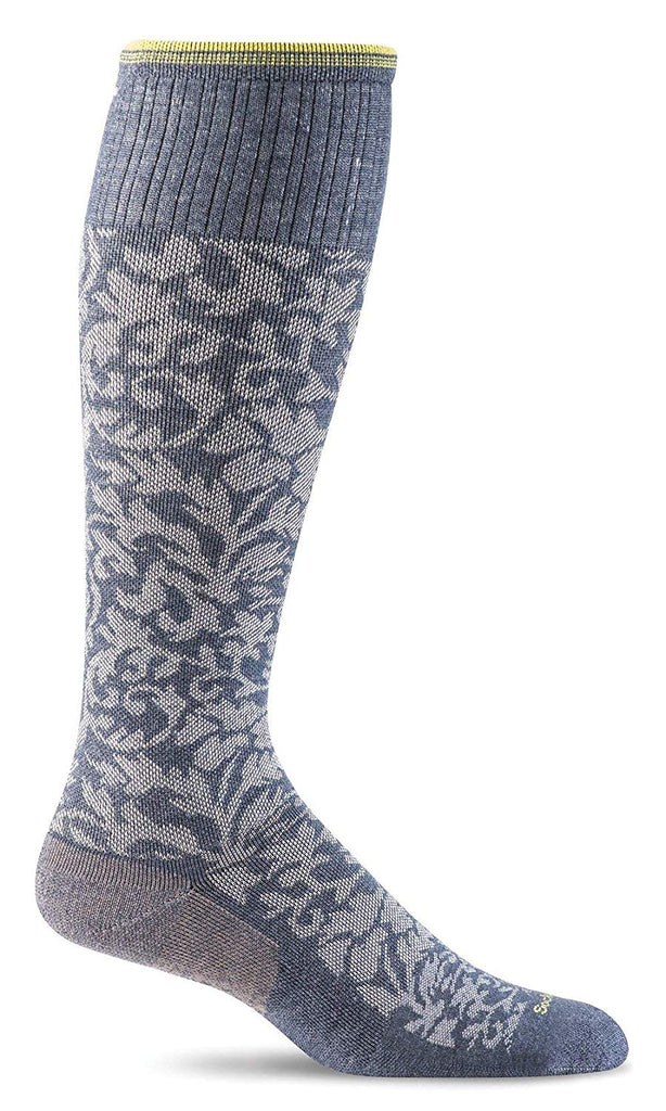 Sockwell Womens Damask Socks - Denim - Small/Medium