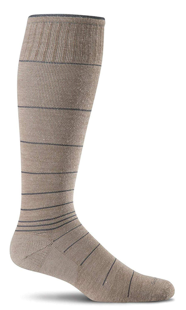 Sockwell Mens Circulator Graduated Compression Socks - Khaki Medium/Large
