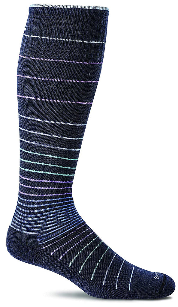 Sockwell Womens Circulator Graduated Compression Socks - Medium/Large - Navy