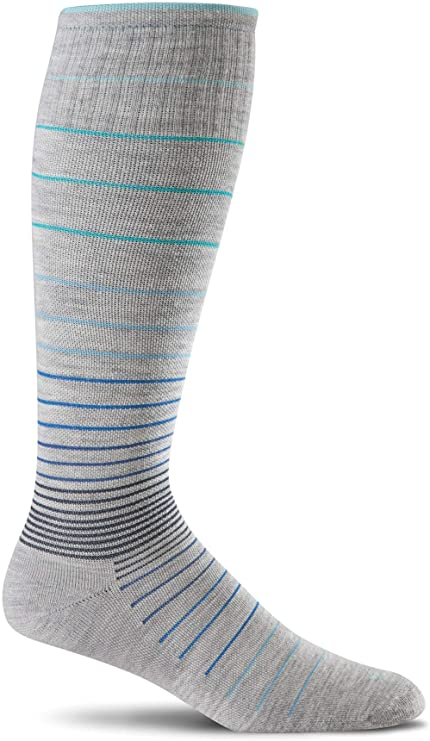 Sockwell Womens Circulator Graduated Compression Socks - Small/Medium (4-7.5) Grey