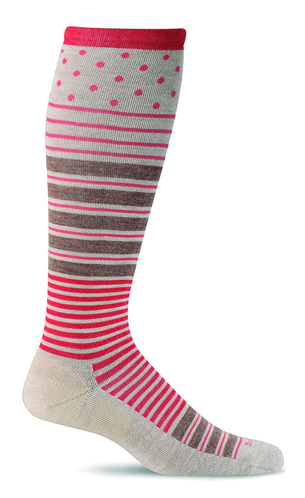 Sockwell Womens Twister Graduated Compression Socks - Barley - Medium/Large