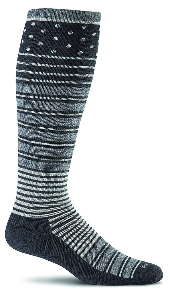 Sockwell Womens Twister Graduated Compression Socks - Black - Medium/Large
