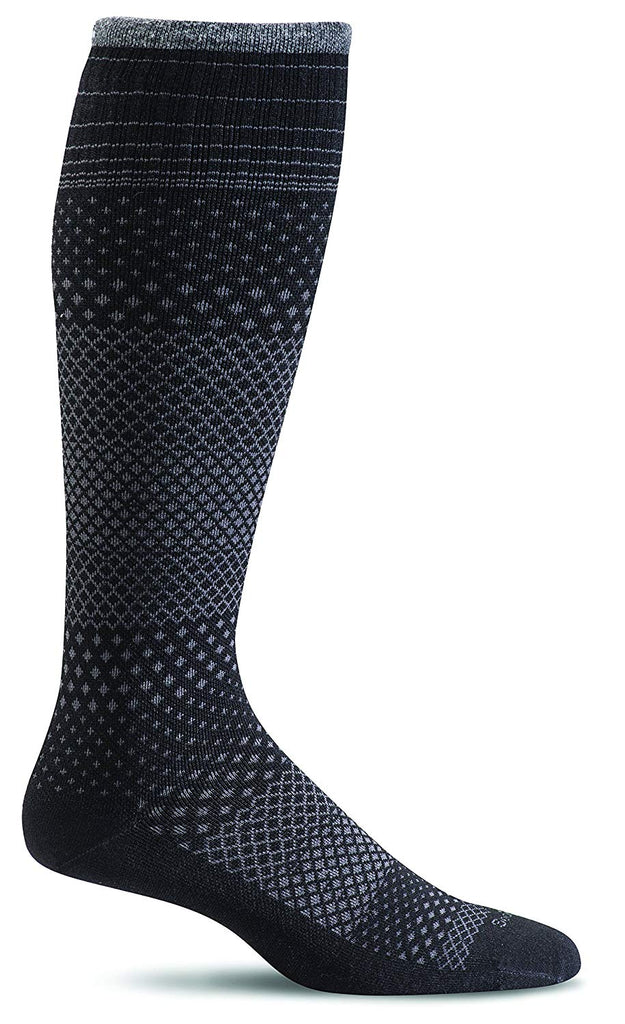 Sockwell Womens Micro Grade Graduated Compression Socks - Black - Medium/Large