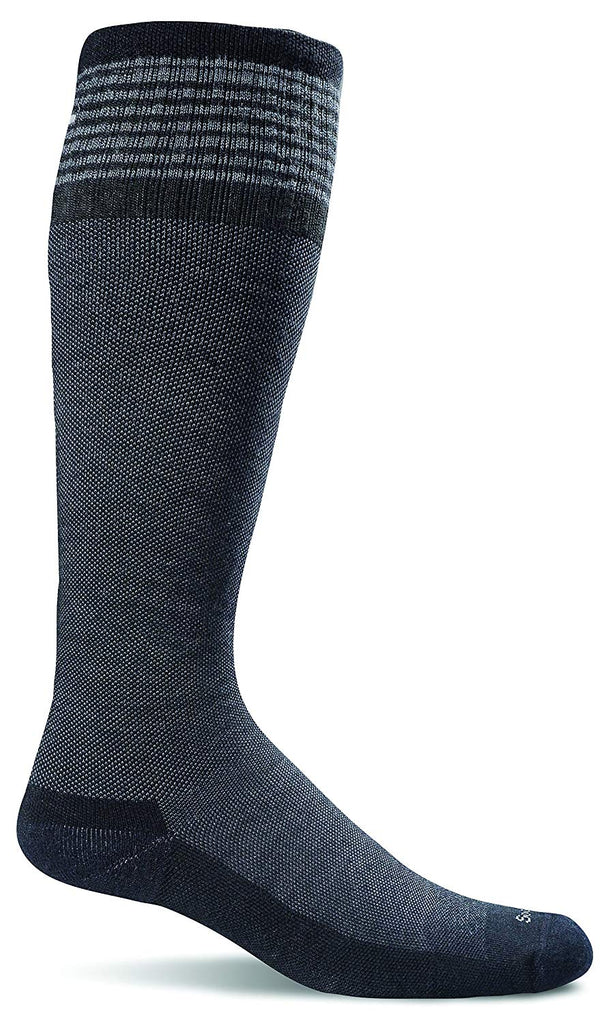 Sockwell Womens Elevation Firm Graduated Compression Socks - Black Solid Medium/Large