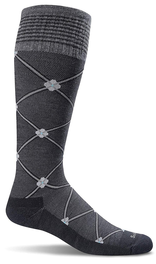 Sockwell Womens Elevation Firm Graduated Compression Socks - Black Multi - Medium/Large
