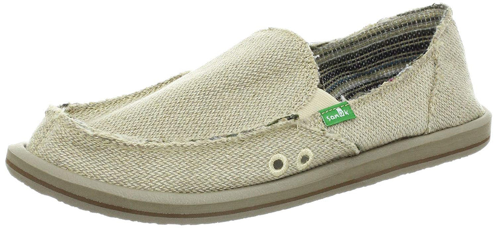 Sanuk Womens Donna Hemp Slip-On - Natural - 7 M US -
