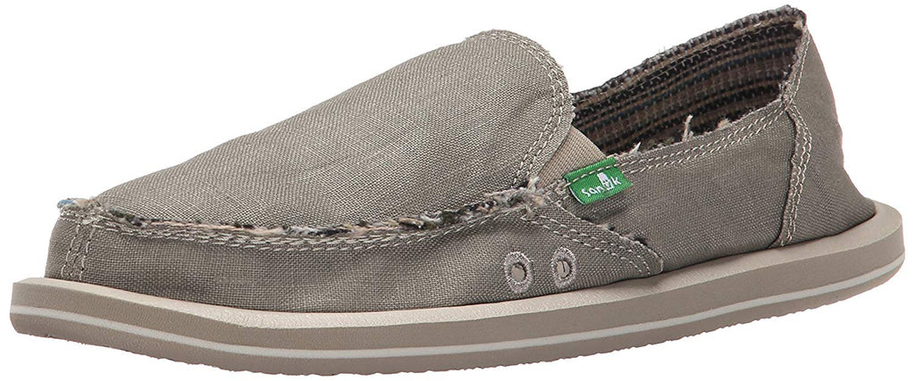 Sanuk Womens Donna Hemp Flat -  Olive Grey -  6 M US