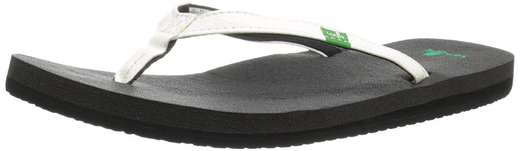 Sanuk Womens Yoga Joy Flip Flop - White - 6 M US