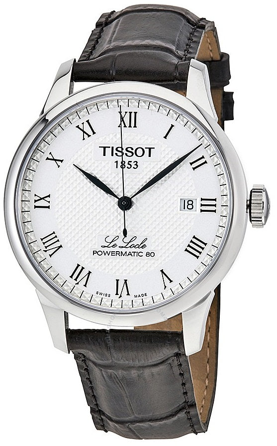 Tissot Le Locle Powermatic 80 Automatic Leather Mens Watch