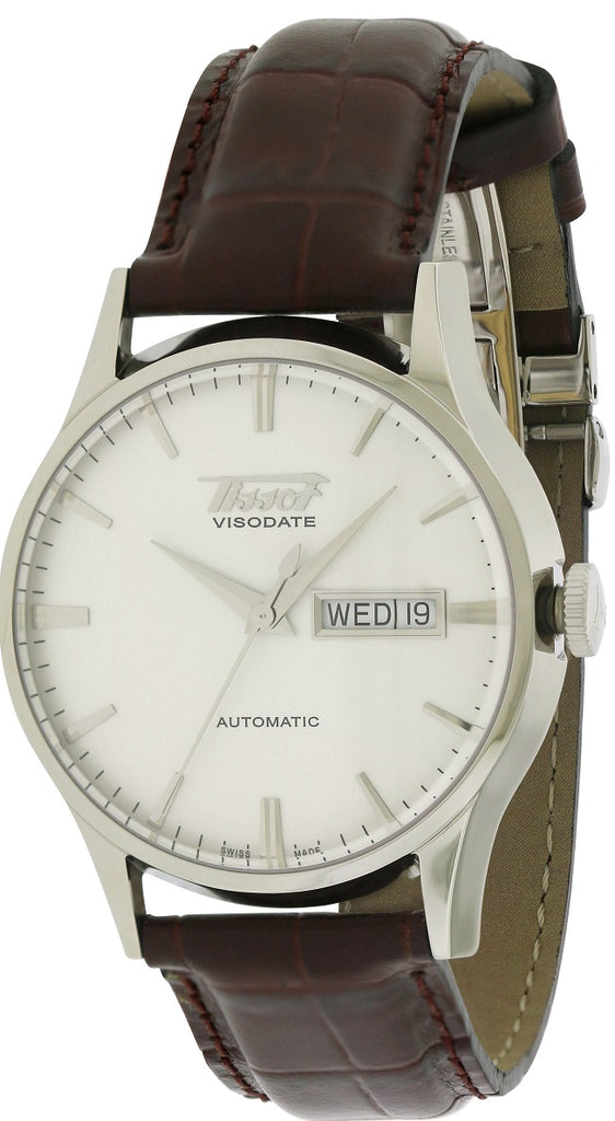 Tissot Visodate Automatic Leather Mens Watch
