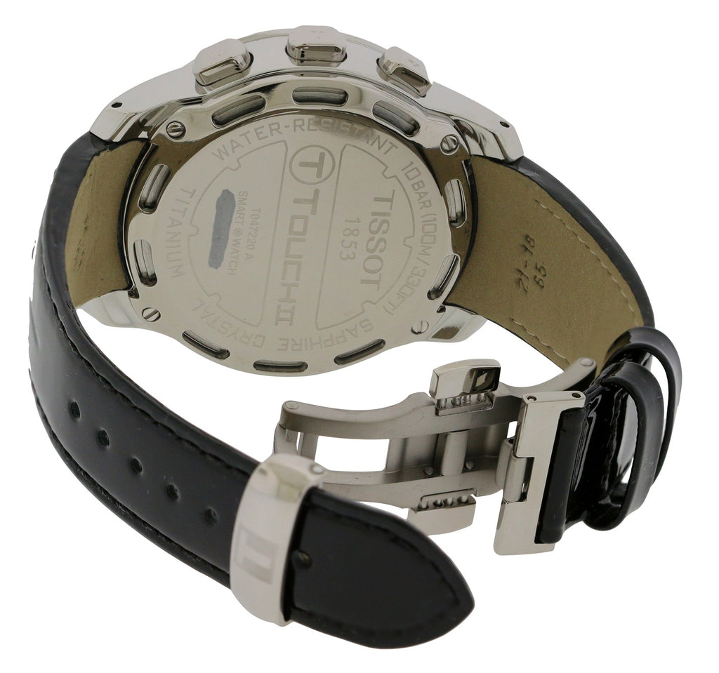 Tissot T-Touch II Diamond Titanium Leather Ladies Watch