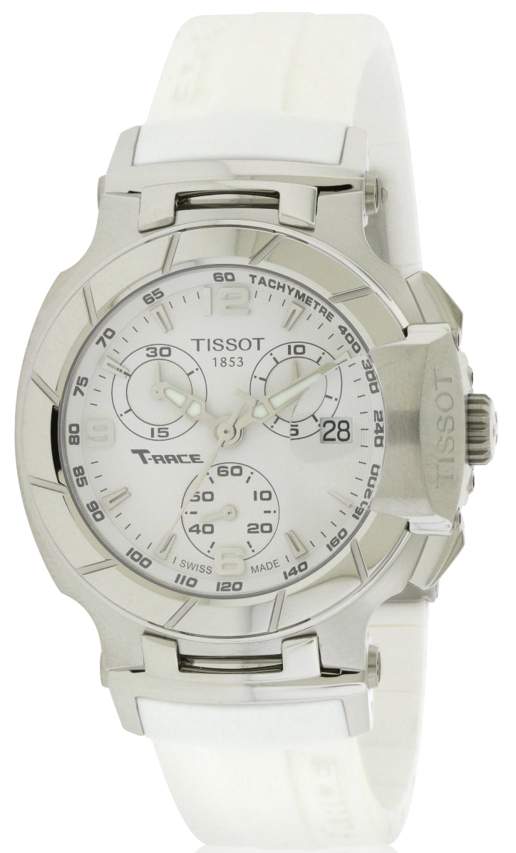 585379b7a Tissot T-Race White Rubber Chronograph Ladies Watch. Tissot T-Race White  Rubber Chronograph Ladies Watch