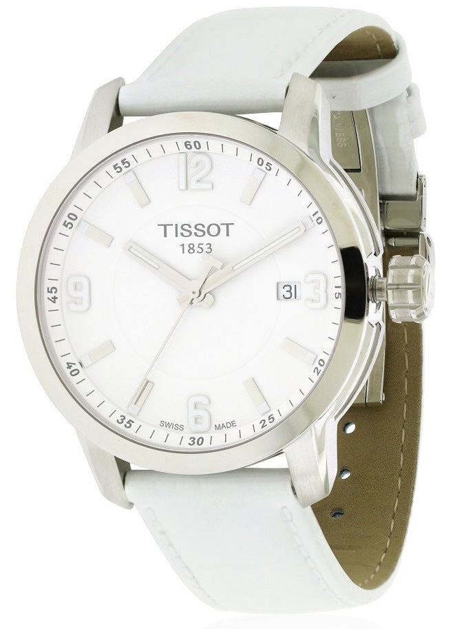 Tissot PRC 200 White Leather Mens Watch