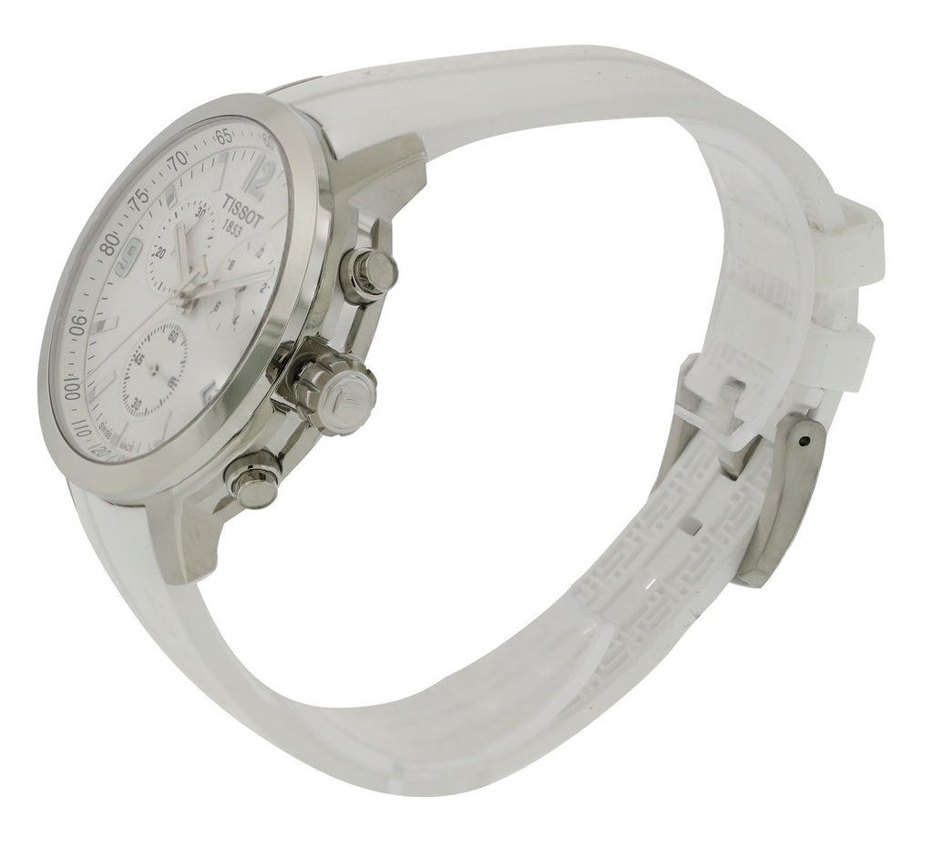 Tissot PRC 200 White Rubber Chronograph Mens Watch
