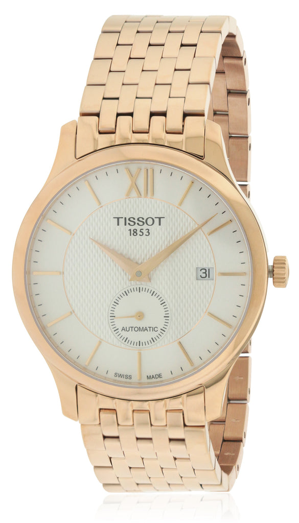 Tissot Tradition Automatic Rose Gold-tone Stainless Steel Mens Watch