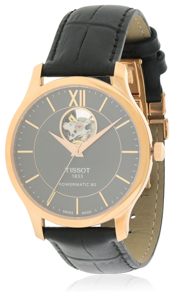 Tissot Tradition Powermatic 80 Open Heart Mens Watch
