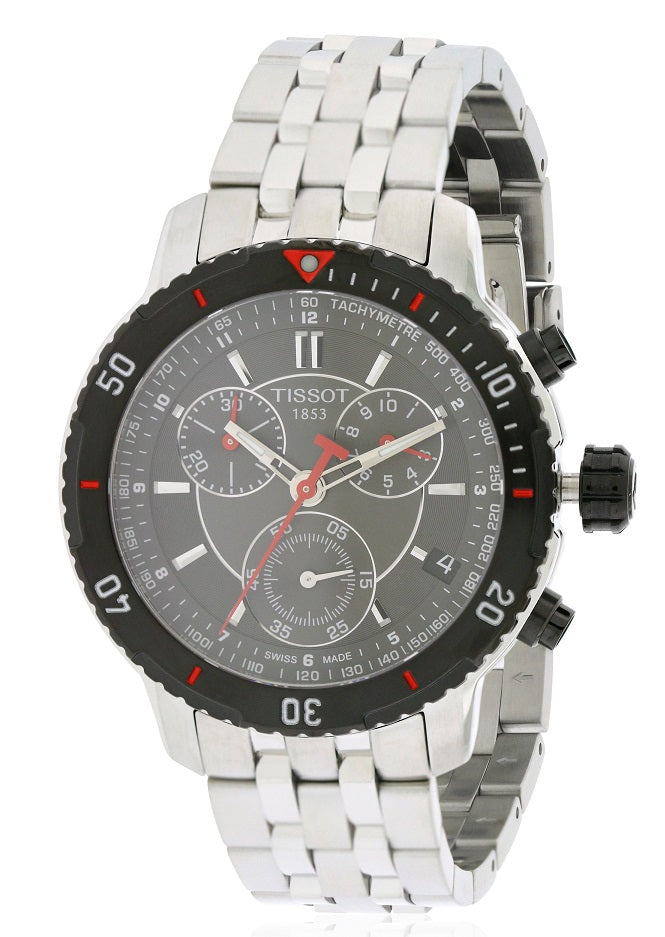 Tissot PRS200 Stainless Steel   Chronograph Mens Watch