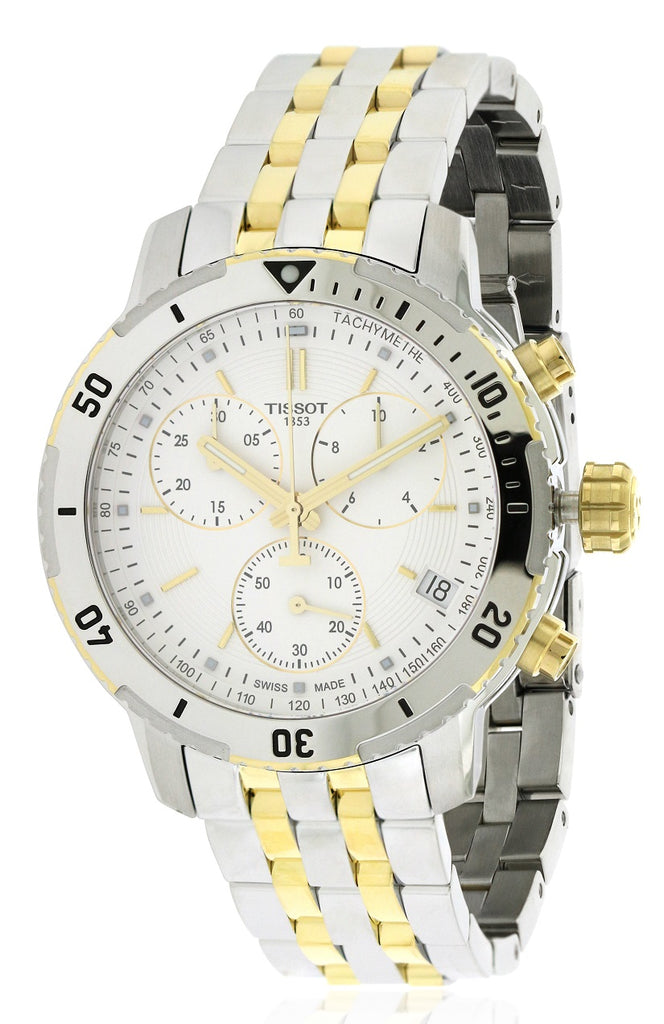 Tissot PRS 200 Two-Tone Chronograph Mens Watch