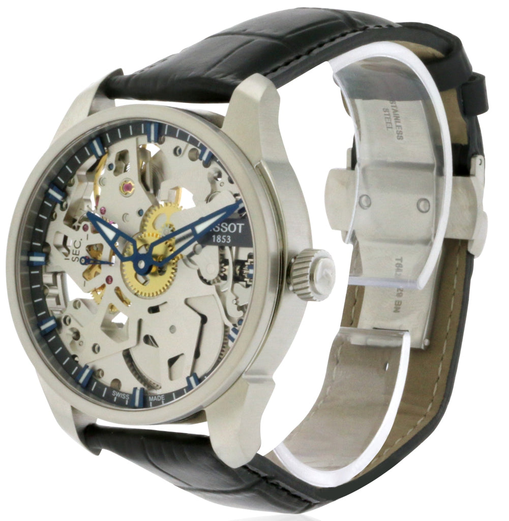 Tissot T-Complication Squelette Leather Mens Watch