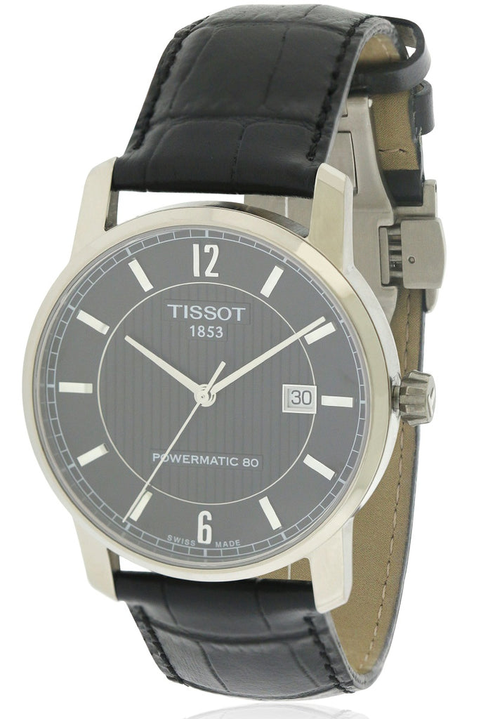 Tissot T-Classic Titanium Leather Automatic Mens Watch
