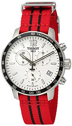 Tissot Quickster Chicago Bulls NBA Special Edition Nylon Chronograph Mens Watch