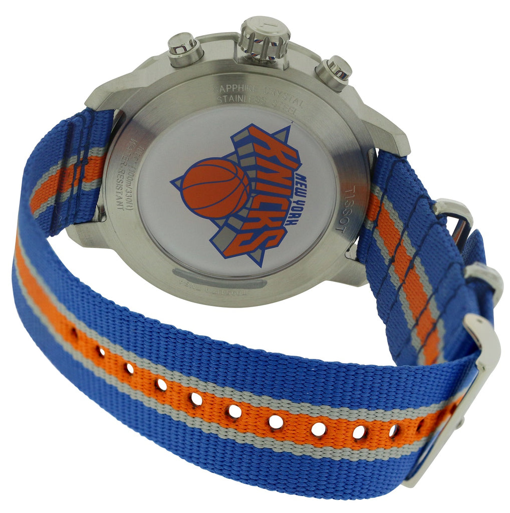 Tissot Quickster Knicks NBA Special Edition Nylon Chronograph Mens Watch