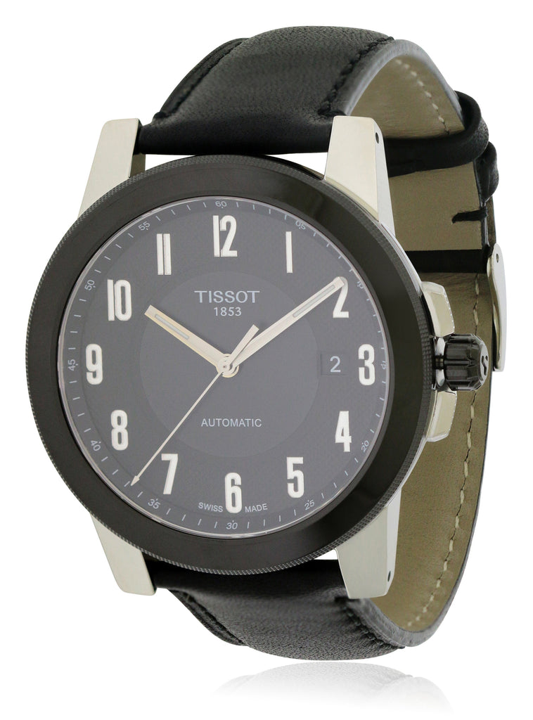 Tissot Gentleman Swissmatic Leather Mens Watch