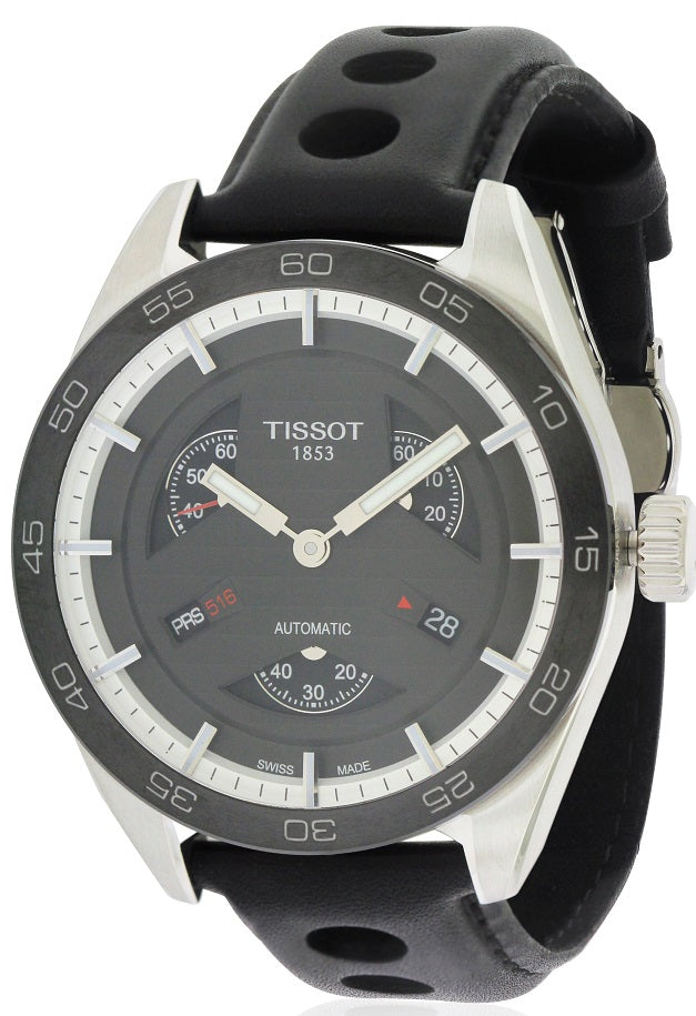 Tissot PRS516 Automatic Leather Mens Watch
