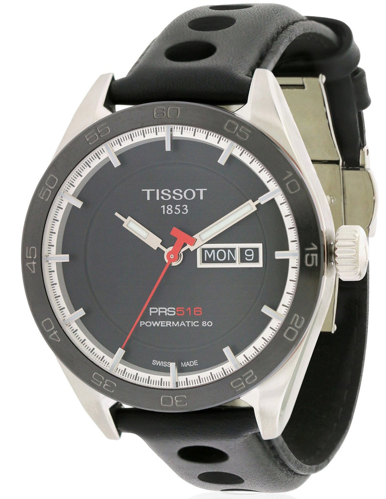 Tissot PRS 516 Automatic Leather Mens Watch
