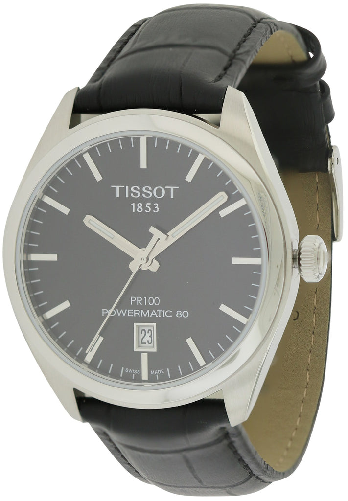 Tissot PR100 Automatic Leather Mens Watch