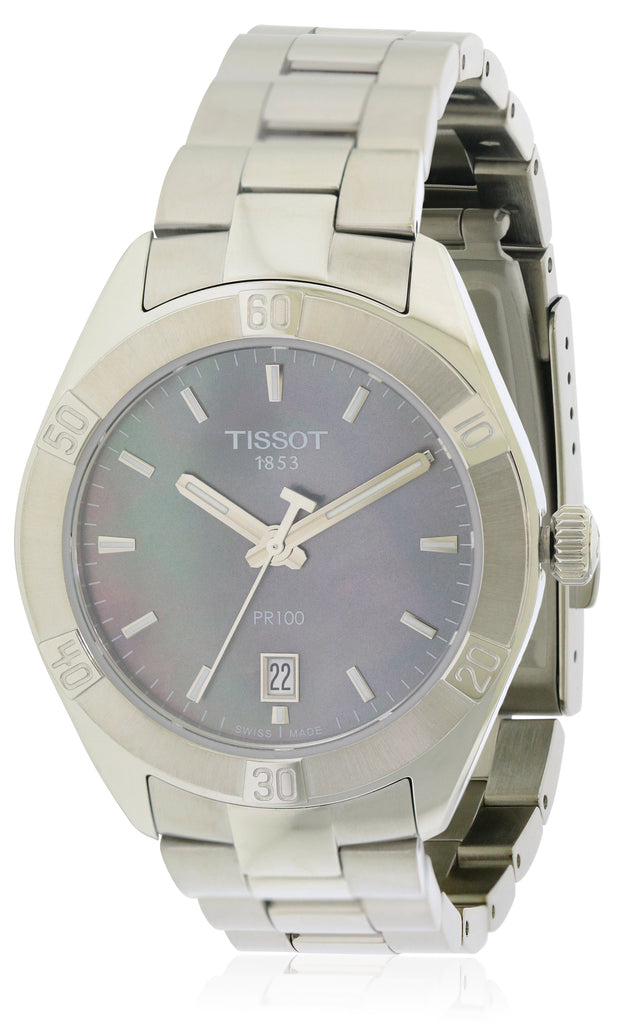 Tissot PR100 SPORT CHIC Stainless Steel Ladies Watch