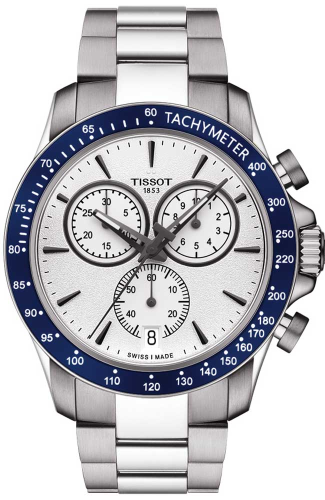 Tissot V8 Stainless Steel Chronograph Mens Watch
