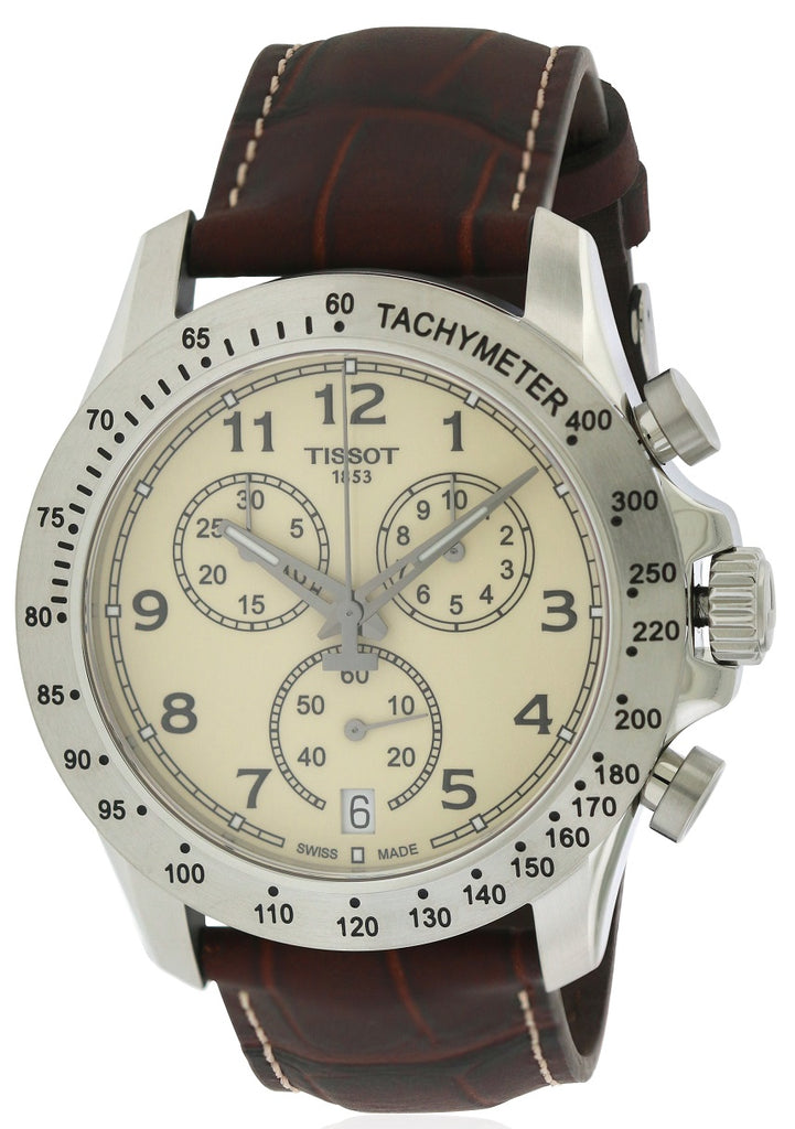 Tissot V8 Leather Chronograph Mens Watch