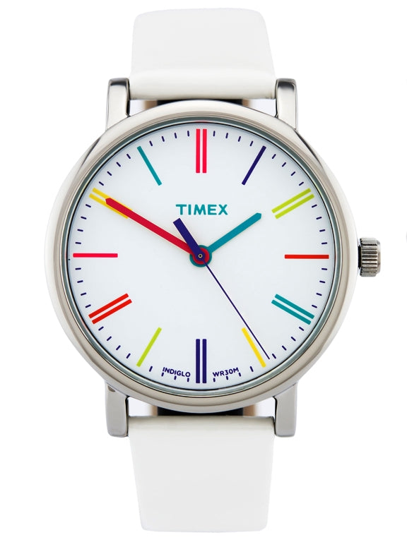 Timex Heritage Easy Reader White Leather Unisex Watch