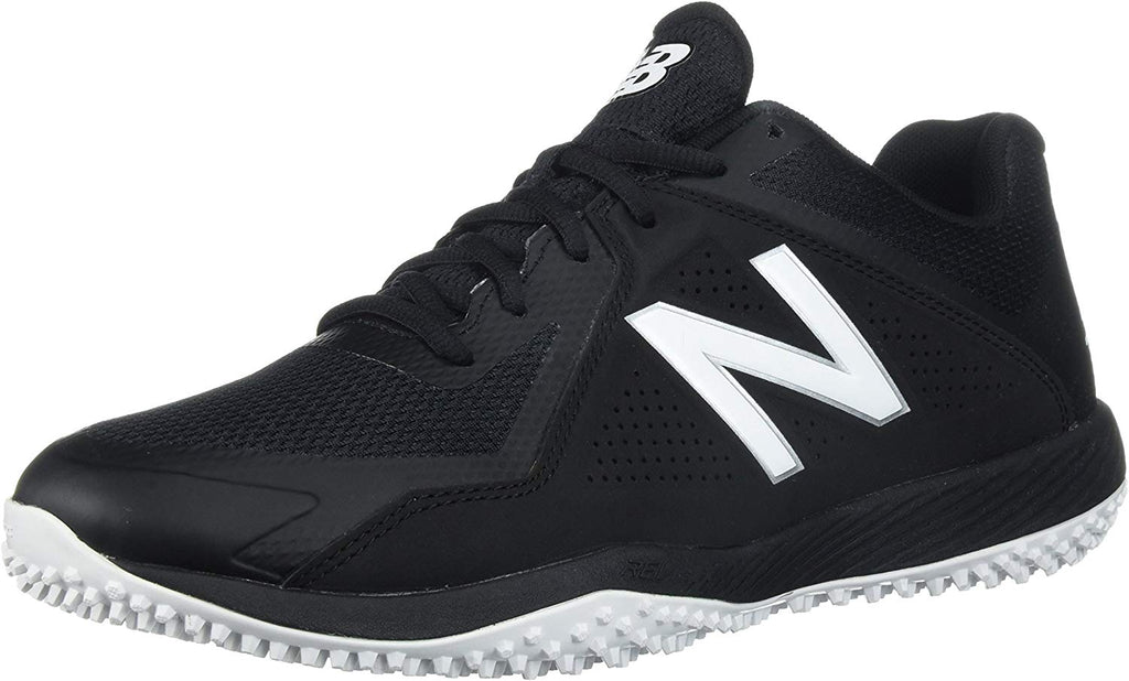New Balance T4040v4 Turf Baseball Mens Shoe Sneaker - Black/White - Size 10.5