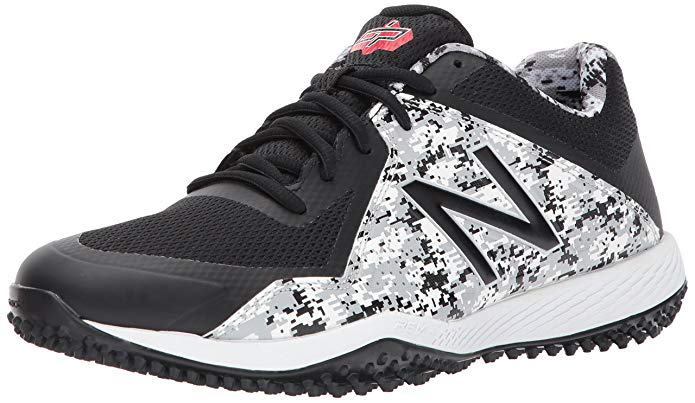 New Balance Mens T4040v4 Turf Baseball Shoe - Black Camo - Size 11.5