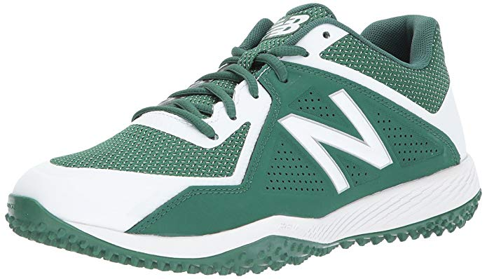 New Balance Mens T4040v4 Turf Baseball Shoe - Green/White - Size 10.5