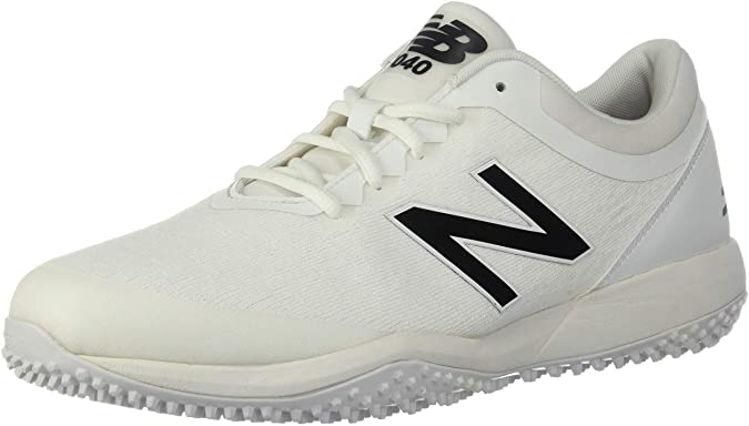 New Balance Mens 4040v5 Turf Baseball Shoe - All White/White - 8