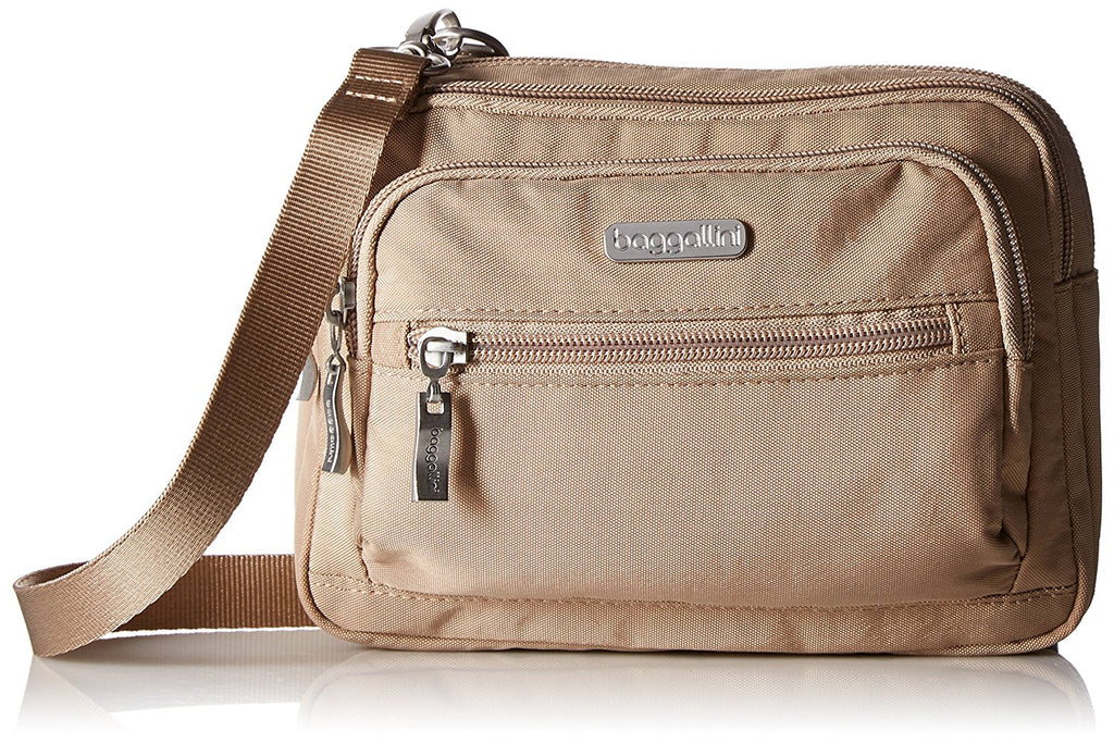 Baggallini Triple Zip Bag Crossbody Bag to Wallet Purse or Waist Pack -