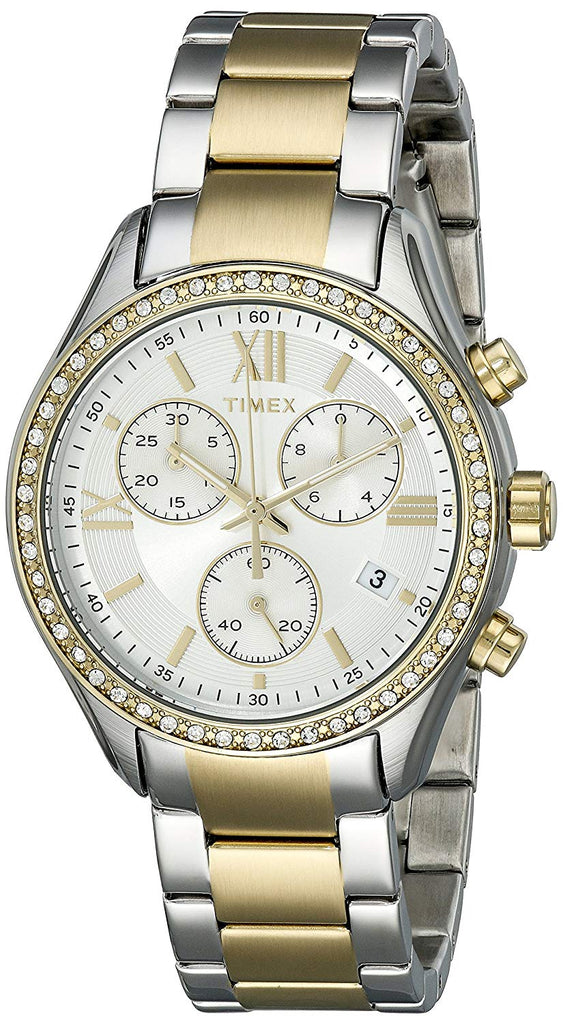 Timex Two-Tone Swarovski Ladies Watch