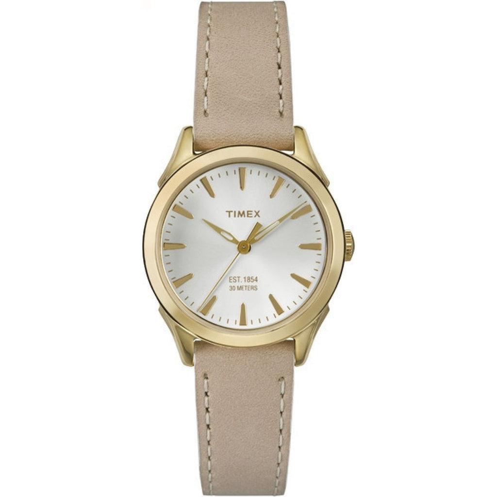Timex City Leather Ladies Watch