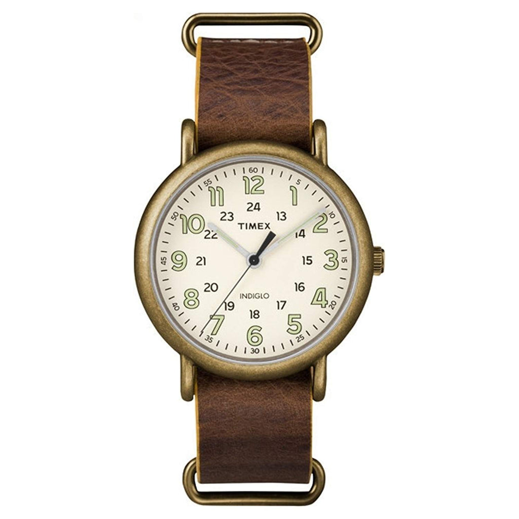 Timex Weekender Leather Mens Watch