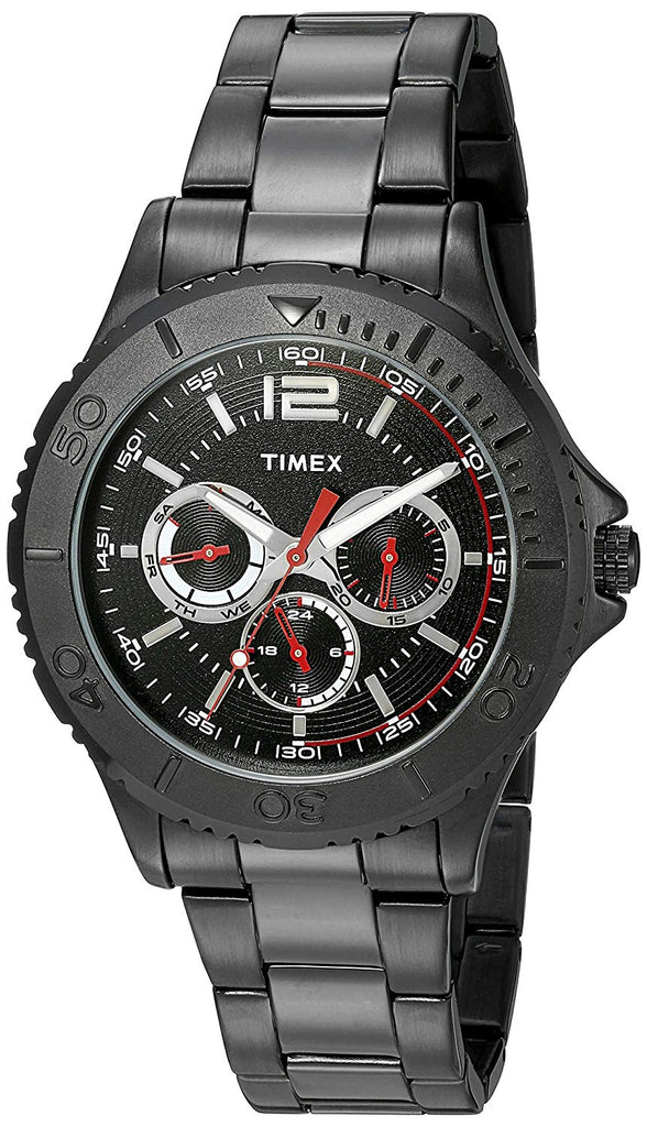 Timex Taft Street Black Stainless Steel Mens Watch
