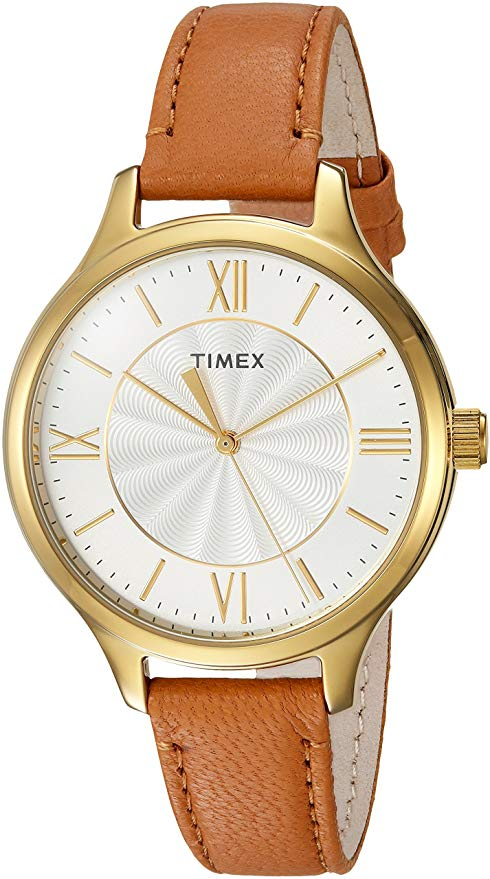Timex Peyton Brown Leather Ladies Watch