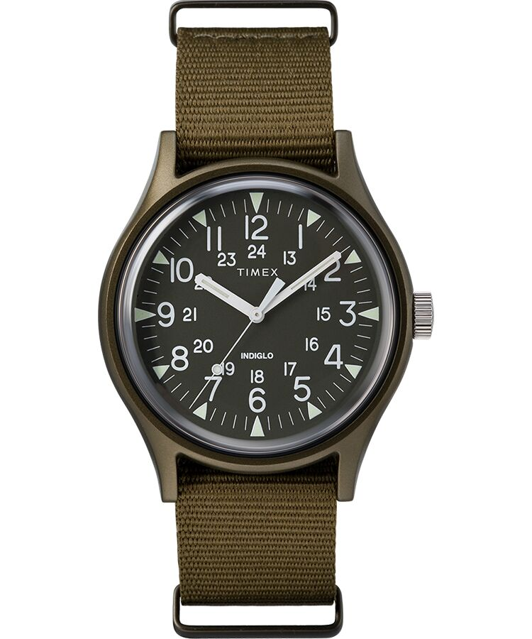 Timex MK1 Nylon Indiglo Mens Watch