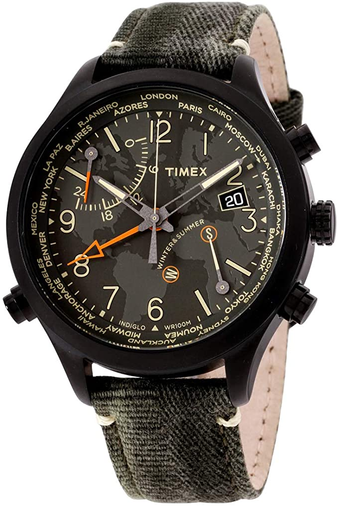 Timex Waterbury World Time Intelligent Mens Watch