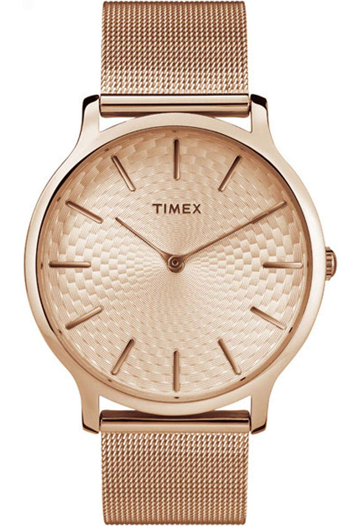 Timex Skyline Rose Gold-Tone Ladies Watch