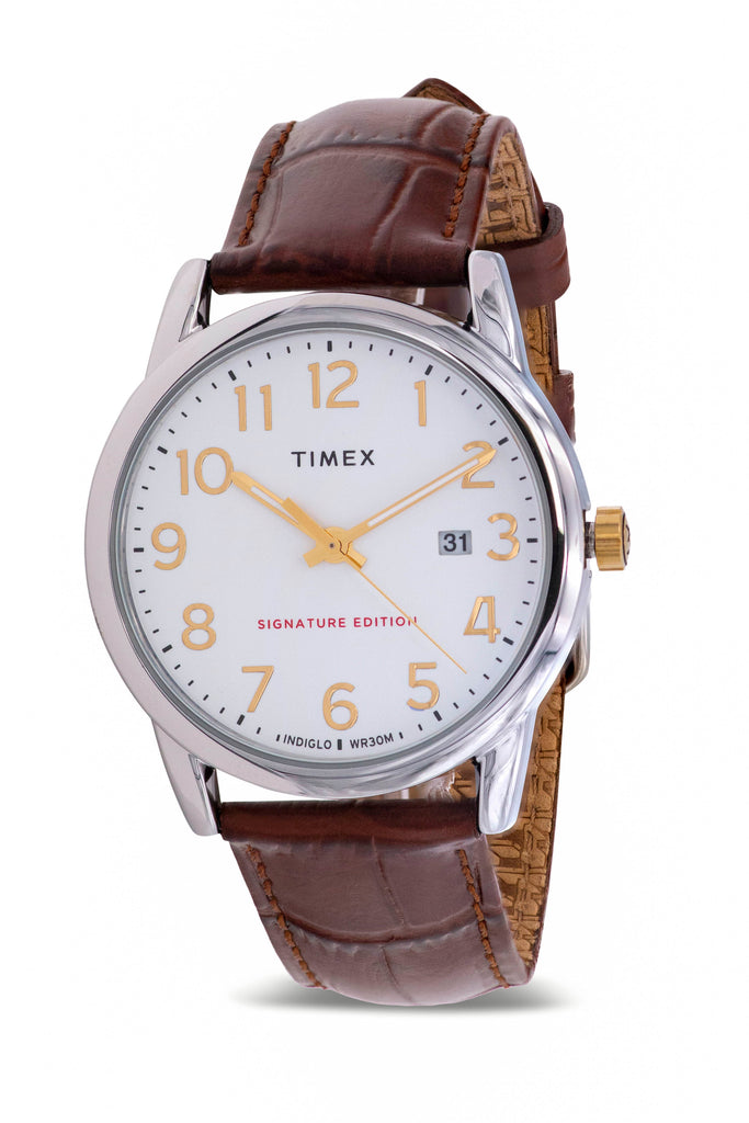Timex Easy Reader Leather Mens Watch
